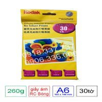 Giấy in ảnh Kodak bạc rc , định lượng 260g A6
