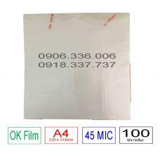 Nhựa ép plastic A4 - 45mic